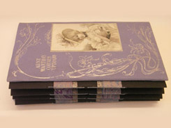 Purple Concertina book with expandable spine