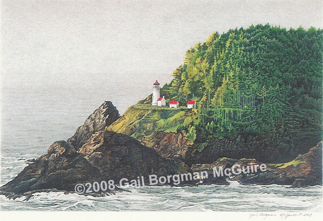 Heceta Head Light notecard