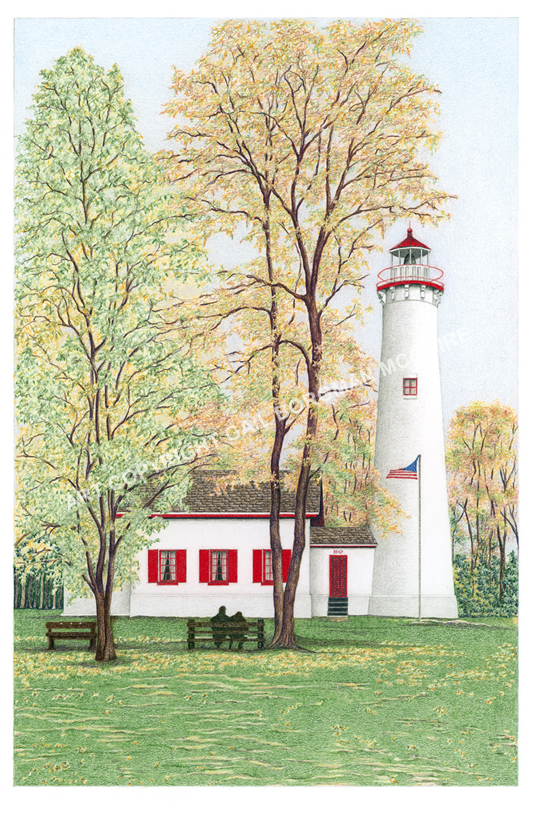 Fourty Mile Lighthouse notecard