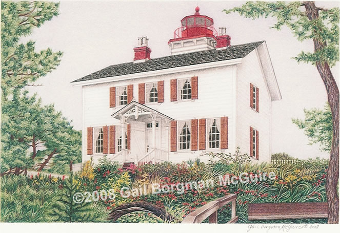 Yaquina Bay Light notecard