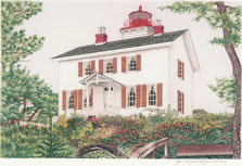 Yaquina Bay Light house artwork