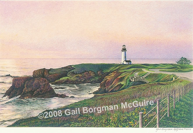 Yaquina Head light note card