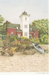 Forty Mile Point Lighthouse notecard