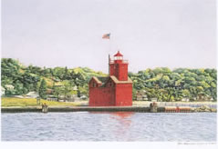 Holland Harbor Lighthouse notecard