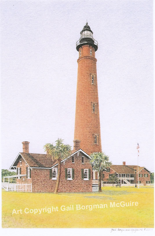 Ponce de Leon Lighthouse notecard