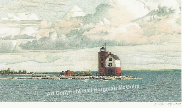 Round Island Lighthouse notecard
