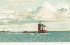 Round Island Lighthouse notecards